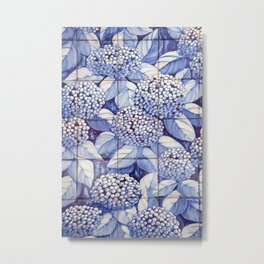 Floral tiles Metal Print