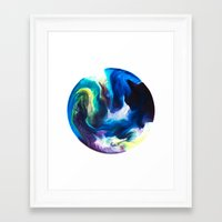 dragon ball Framed Art Prints featuring Ball by Chimisay