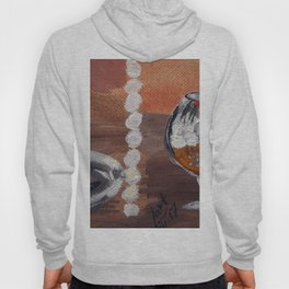 """Thumbnail of the painting """"White beads"""" #1 Hoody"""