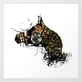 HORSEHEAD MASK Art Print