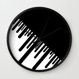 Black and White Meteor Shower Wall Clock