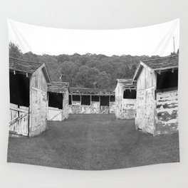 Vanishing Stables  Wall Tapestry