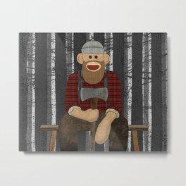 Sockmonkey Lumberjack Metal Print