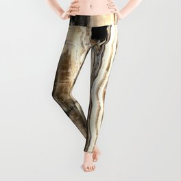 Creamy Caramel and Chocolate Fudge Marble Pattern Leggings