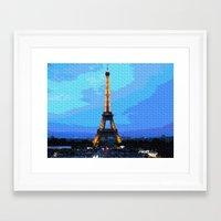 eiffel Framed Art Prints featuring Eiffel by osile ignacio