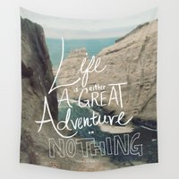 inspirational Wall Tapestries featuring Great Adventure by Leah Flores