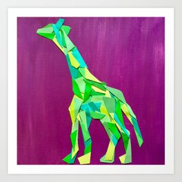Giraffe collage of paint samples Art Print