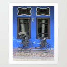 Blue Mansion in Penang, Malaysia (2013g) Art Print