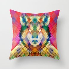 Corporate Wolf Throw Pillow