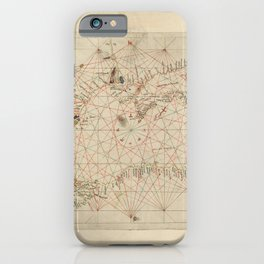Antique / Vintage Map - The Black Sea, from Andrea Bianco's Atlas (1436) iPhone Case