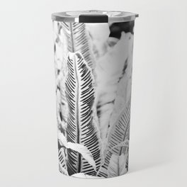 monochrome fern Travel Mug
