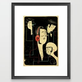 乐 Music Lovers / Vintage Framed Art Print