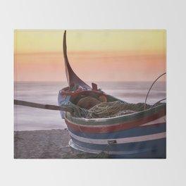 Fishing boat Throw Blanket
