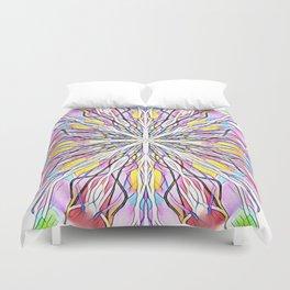 Stain Glass Kaleidoscope Duvet Cover