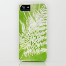 Airbrushed bracken frond and grasses iPhone Case