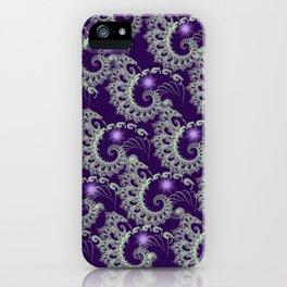 Purple Nautilus Fractals iPhone Case