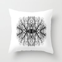 scary Throw Pillows featuring Scary trees are scary by Pietro Bellini