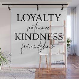 Hufflepuffs Loyalty Patience Kindness Friendship Wall Mural
