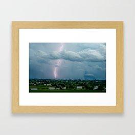 Lightning in the Valley Framed Art Print