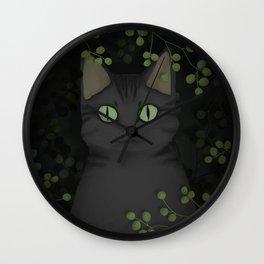 A warrior cat Wall Clock