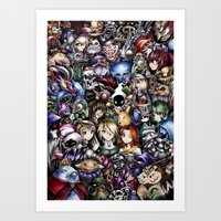 legend of zelda Art Prints featuring The Legend of Zelda by Sandra Ink
