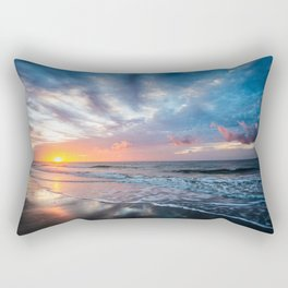 Daybreak at Hilton Head - Sunrise Along Beach at Hilton Head Island in South Carolina Rectangular Pillow