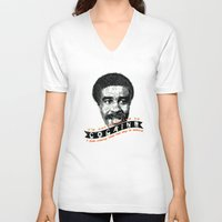 cocaine V-neck T-shirts featuring Cocaine by Geekleetist