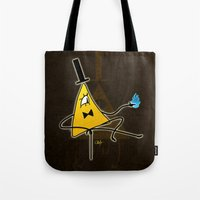 bill cipher Tote Bags featuring Bill Deal by Chouly-Shop