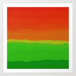 Candy Watermelon Abstract Art Print