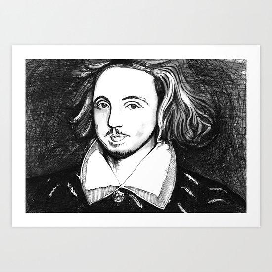 Christopher Marlowe Portrait Art Print