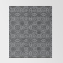 Sharkskin Geometric Floral Throw Blanket