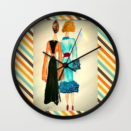 Lucinda and Florinda Wall Clock