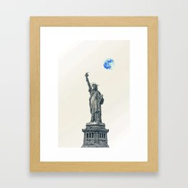 Lady of Libery and Freedom by Adam Asar 4 Framed Art Print