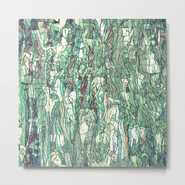 Abstract green Metal Print
