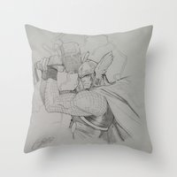 thor Throw Pillows featuring Thor by Gianni