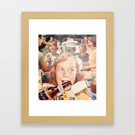 Katie prefers an IPA but beggars can't be choosers Framed Art Print