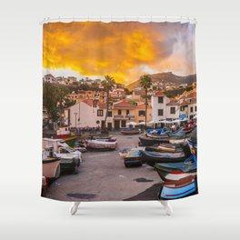 Madeira sunset Shower Curtain
