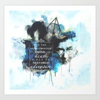 dumbledore Art Prints featuring Dumbledore by Rose's Creation