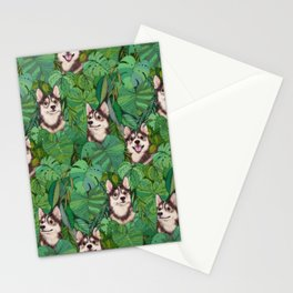 Pomsky Garden Stationery Cards
