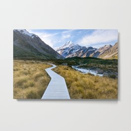 Mt.Cook New Zealand - A hikers dream Metal Print