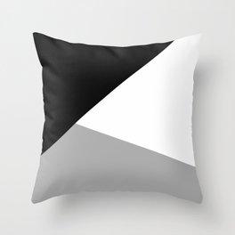 Monochrome Certainty Throw Pillow
