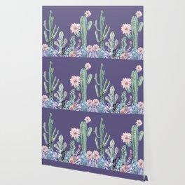 Desert Gemstone Oasis Purple Wallpaper