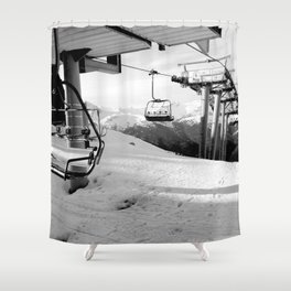 Scenic route equipment Shower Curtain