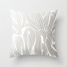 Silver & White Throw Pillow