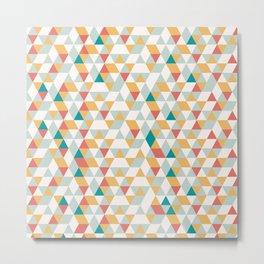 Summer Geometric Pattern Metal Print