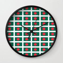 flag of bengladesh-bengladesh,Bengali, bengladeshi,bengalবাংলাদেশ, dhaka. Wall Clock