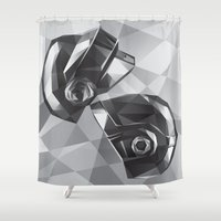 daft punk Shower Curtains featuring Daft Punk by Filip Peraić