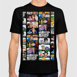 Faces of Who (Black) T-shirt