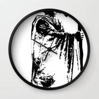 lacrosse Wall Clocks featuring The lacrosse wizard by laxwear