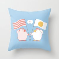 breakfast Throw Pillows featuring breakfast by gotoup